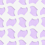 Colored 3D purple striped pedals with grid. Seamless geometric background. Modern 3D texture. Pattern with realistic shadow and cut out of paper effect Stock Image