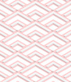 Colored 3D red striped corners. Seamless geometric background. Modern 3D texture. Pattern with realistic shadow and cut out of paper effect vector illustration