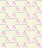 Colored 3D red and yellow striped triangles with grid Royalty Free Stock Photo