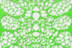 Colored 3d voronoi organic structure on white background. Chaotic structure. 3D render illustration Stock Photography