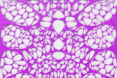 Colored 3d voronoi organic structure on white background. Chaotic structure. 3D render illustration Royalty Free Stock Photo