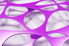 Colored 3d voronoi organic structure on white background. Chaotic structure. 3D render illustration Stock Image