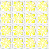 Colored 3D yellow striped pointy squares. Seamless geometric background. Modern 3D texture. Pattern with realistic shadow and cut out of paper effect Stock Image