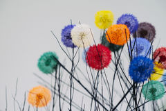 Colored dandelions. Here is a closeup shot of ikebana Stock Images