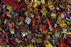 Colored Decorative Chip. Colored decorative wood chip grunge background horizontal Royalty Free Stock Image