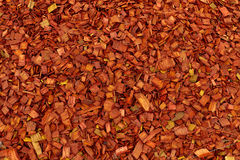 Colored Decorative Chip. Colored decorative wood chip mulch grunge background Royalty Free Stock Photo