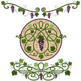 Colored decorative elements Stock Photo