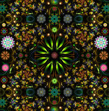 Colored decorative mandala background Stock Photo