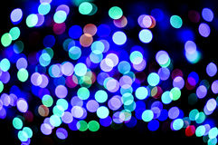 Colored defocused lights background. Abstract bokeh lights Stock Photo