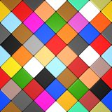 Colored diamond tiles Royalty Free Stock Photo