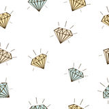 Colored diamonds seamless vector background Stock Image