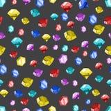 Colored diamonds texture. Vector illustration. Royalty Free Stock Photos