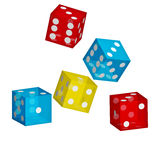 Colored Dice Royalty Free Stock Photography