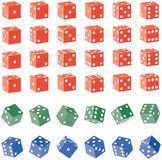 Colored Dice Stock Photography