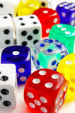 Colored dice Royalty Free Stock Images