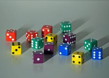 Colored Dice Royalty Free Stock Image