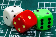 Colored Dice Stock Photos