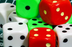 Colored Dice Stock Images
