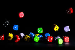 Colored dice Stock Image