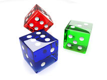 Colored Dices Royalty Free Stock Image