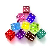 Colored dices Stock Photo