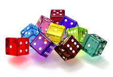 Colored dices Stock Image