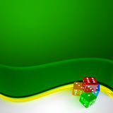 Colored dices Royalty Free Stock Photo