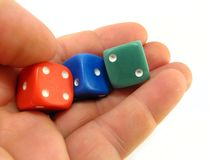 Colored dices Royalty Free Stock Photography