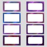 Colored digital art business card frame set Royalty Free Stock Images