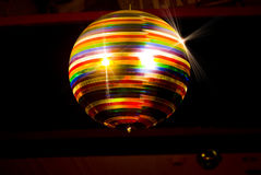 Colored disco ball Stock Image