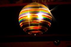Colored disco ball stock image