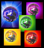 Colored disco balls Stock Images