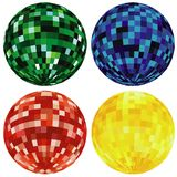 Colored Disco Balls Stock Photos