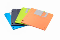 Colored diskettes. royalty free stock photo