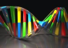 Colored DNA Molecule Stock Photos