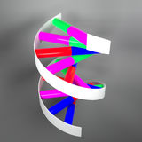 Colored DNA Rendering Stock Images