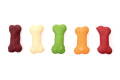 Colored dog biscuits Royalty Free Stock Photography