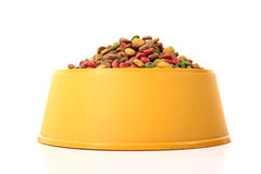 Colored dog food in a bowl Royalty Free Stock Photography