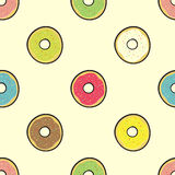 Colored donuts Stock Photos