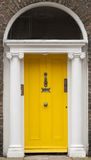 Colored door in Dublin from Georgian times (18th century) Royalty Free Stock Images