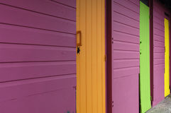 Colored doors Royalty Free Stock Images