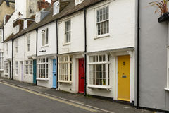 Colored doors at Brighton, East Sussex Stock Photos