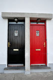 Colored doors Stock Photography