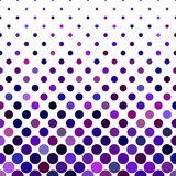 Colored dot pattern background - vector illustration from purple circles Stock Photos