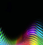 Colored dots. Black abstract background with colored dots and copyspace Royalty Free Stock Photo