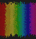 Colored dots. On black background, bright mosaic pixels, vector illustration - you can change the background color and the color of dots Royalty Free Stock Photography