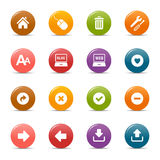 Colored dots - Classic Web Icons. 16 classic web icons set stock illustration