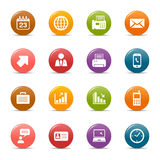 Colored dots - Office and Business icons. 16 office and business icons set vector illustration