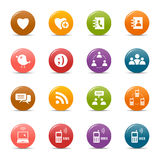 Colored dots - Social media icons Royalty Free Stock Photos