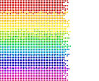 Colored dots. On white background, bright mosaic pixels, vector illustration - you can change the background color and the color of dots Stock Images